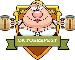 Cartoon Drunk Oktoberfest Graphic - stock illustration