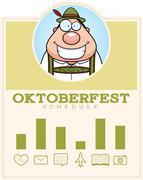 Cartoon Oktoberfest Man Graphic - stock illustration