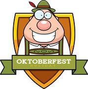 Stock Illustration of Cartoon Oktoberfest Man Graphic