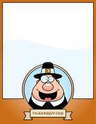 Stock Illustration of Cartoon Thanksgiving Pilgrim Graphic