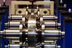 Stock Photo of Pipe bending machine