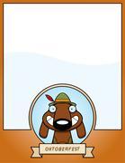 Cartoon Oktoberfest Dog Graphic - stock illustration