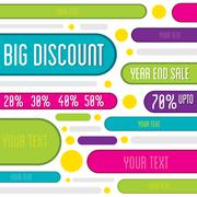 creative big offer discount banner or flyer design vector - stock illustration