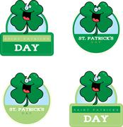 Cartoon Shamrock Graphic - stock illustration