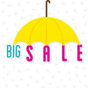Big sale banner design using umbrella vector Stock Illustration