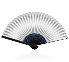 Folding Fan Silvery - stock illustration