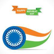 creative republic day greeting design stock vector - stock illustration