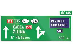 Stock Illustration of Road sign used in Slovakia -