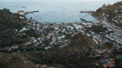 Flying over Avalon on Catalina Island. Shot in 2010. Stock Footage