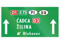 Stock Illustration of Road sign used in Slovakia - Road sign used in Slovakia - signal at level cro