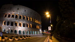 COLOSSEUM NIGHT TIMELAPSE 4K Stock Footage