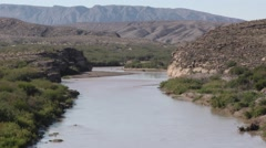 Rio Grande River Texas Mexico Border Stock Footage