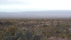 Hazy Air Pollution Smog at Big  Bend National Park in Texas Stock Footage