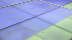 Disco dance floor internal lights nightclub - stock footage