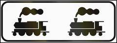 Road sign used in Italy - Railway crossing Stock Illustration