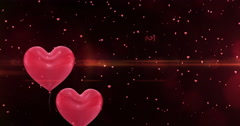 Happy valentines day greetings - stock footage