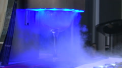instant freezing cocktail glass co2 liquid nitrogen ice - stock footage