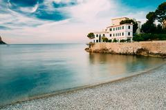 Luxury House on the French Riviera in Cassis, France Stock Photos
