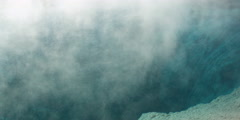 Steam rising from geothermal pool in Yellowstone National Park Stock Footage
