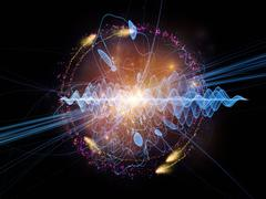 Stock Illustration of Acceleration of Quantum Wave