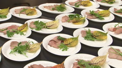 Chef preparing exclusive veal plate Stock Footage