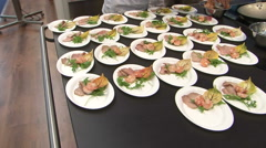 chef preparing exclusive veal plate - stock footage