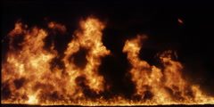 High-reaching flames and black smoke - stock footage
