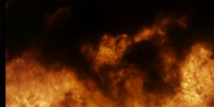 Frame-filling flames and black smoke Stock Footage
