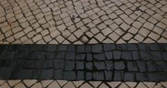 People on Rua Augusta, Lisbon, Portugal - stock footage