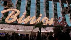 Binion's casio neon lights Stock Footage