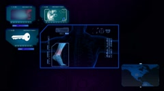 Foot Scanned by Software - blue 01 Arkistovideo