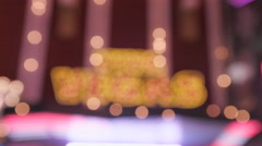 Blurred focus of Viva Vegas neon sign Stock Footage
