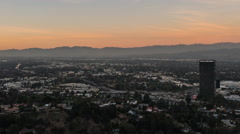 Los Angeles hd Los Angeles San Fernando Valley Day to Night Time Lapse with Zoom Stock Footage