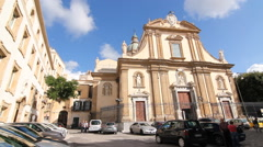 Church of the Gesu in Palermo, Sicily, Italy. Stock Footage