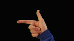Cucasian Young Man Screen Touch Gestures Stock Footage