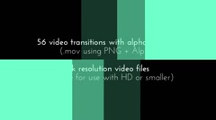 56 Video Transitions In 4K With Alpha Channel - stock after effects