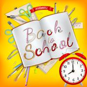 Back to School postcard. EPS 10 Stock Illustration