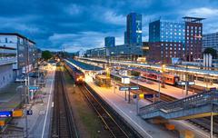 Freiburg Hauptbahnhof railway station, Freiburg im Breisgau, Germany Stock Photos