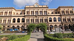 Central train station in Palermo, Sicily, Italy. Stock Footage