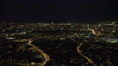 Approaching downtown Boston, Massachusetts at night. Shot in November 2011. Stock Footage