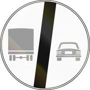 Road sign used in Italy - End of no passing by vehicles of over 3.5 tons Stock Illustration