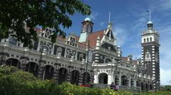 Dunedin Railway Station, New Zealand Stock Footage