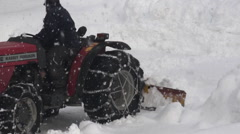 Winter: Tractor Doing Snow Removal/Farm Stock Footage