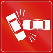 Road sign used in Italy - accident Stock Illustration