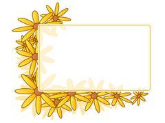 Daisy frame Stock Illustration