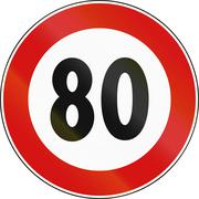 Road sign used in Italy - speed limit - stock illustration