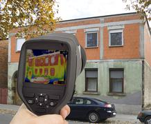 Stock Photo of Thermal Imaging Investigation