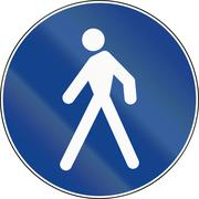 Road sign used in Italy - pedestrian lane - stock illustration