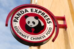 Panda Express Exterior and Logo. - stock photo