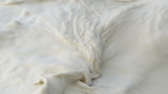 Close-up creamy turbulent surf Stock Footage